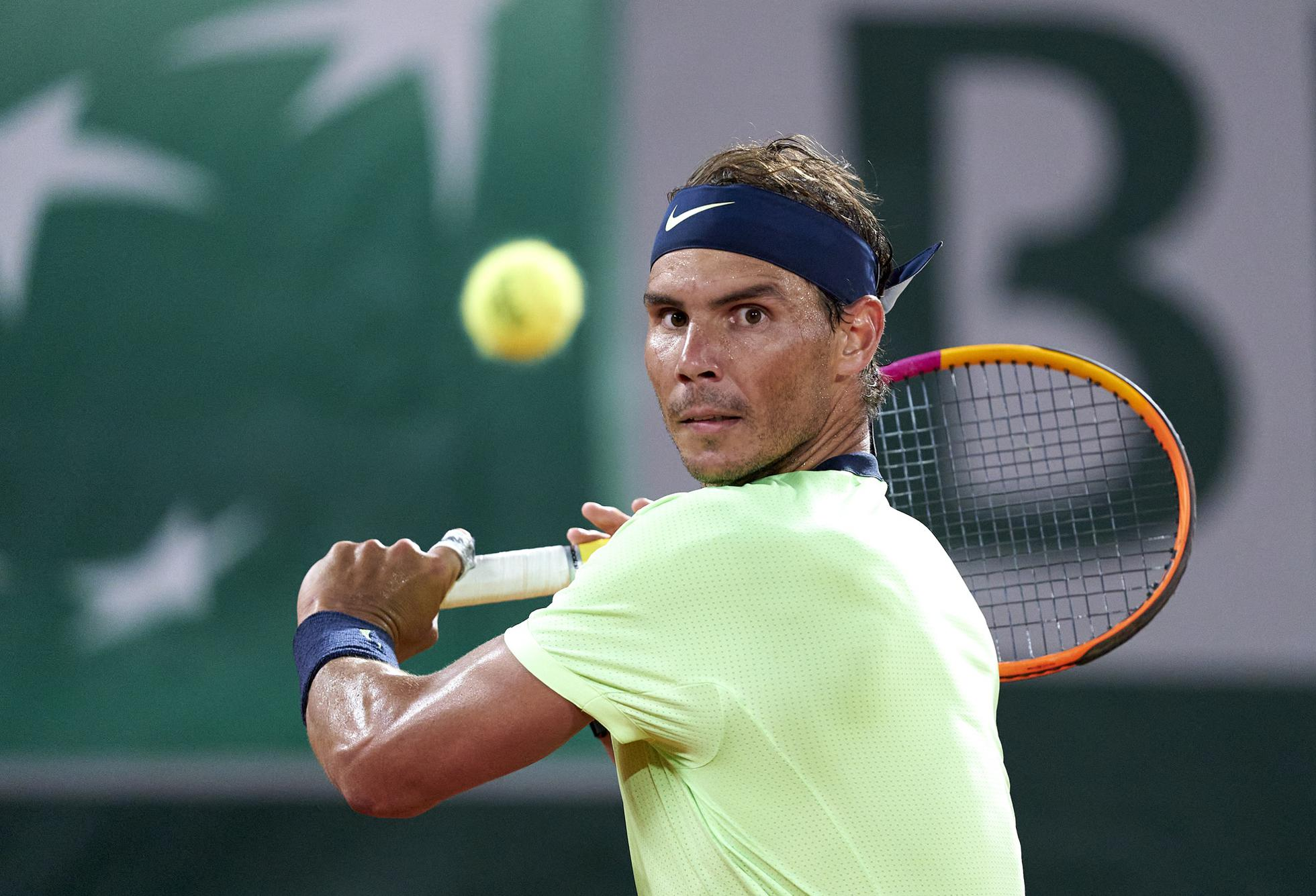 Rafael Nadal during his French Open semifinal loss to Novak Djokovic on Friday.