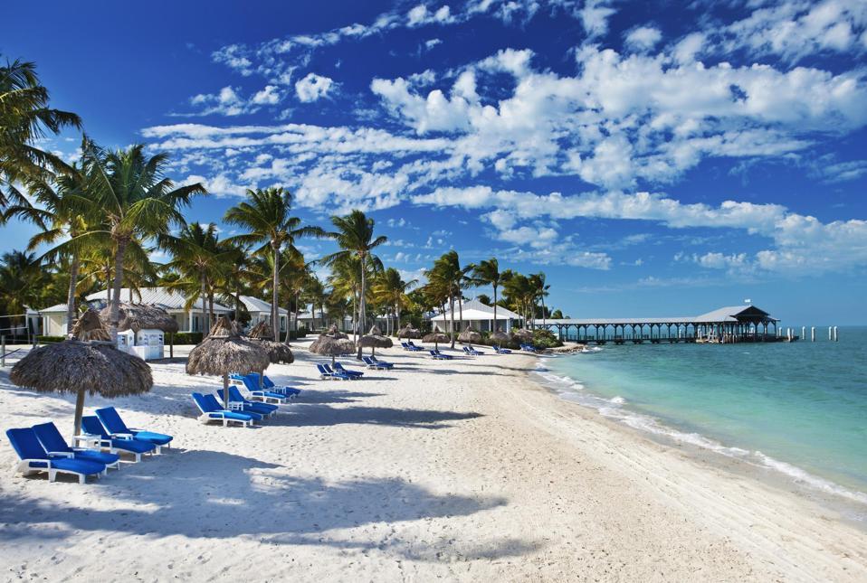 The beach at Sunset Key. Key West, Florida.