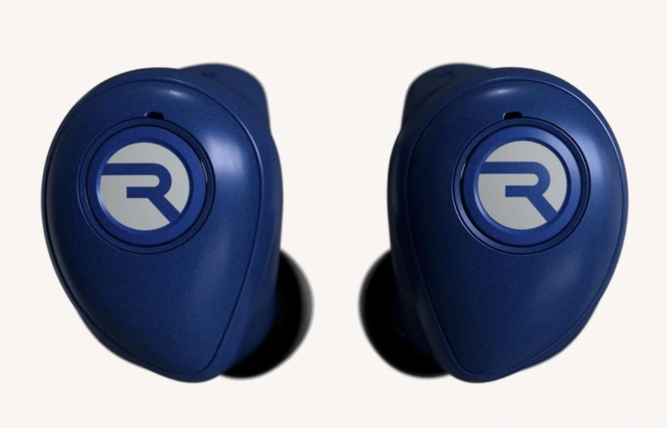 wireless earphones in blue