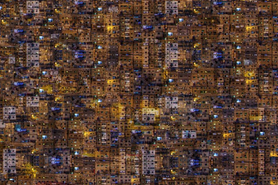 Abstract representation of the city of Amman.
