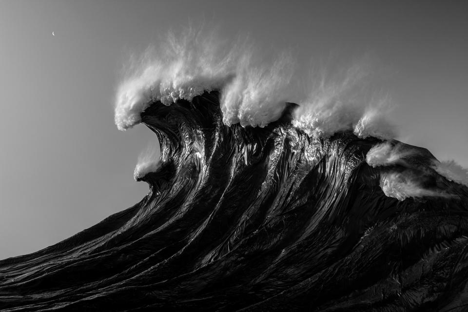 A wave made of plastic