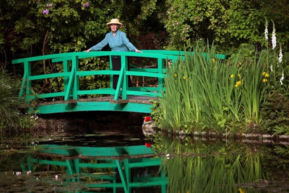 Dame Helen Rappel Bordman in Monet's Garden at Giverny