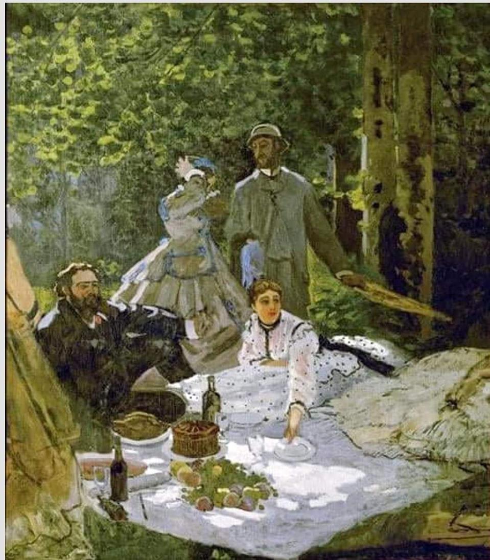 Le Déjeuner sur l'herbe (Luncheon In The Grass), by Claude Monet, 1866.