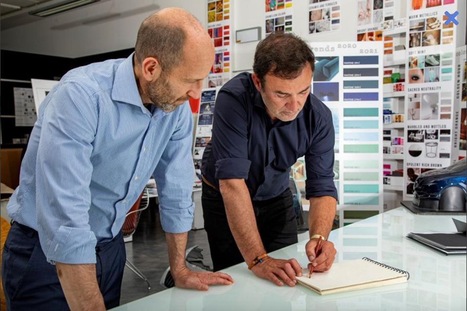 Il CEO di Lancia Napolitano (a sinistra) e Blues presenteranno la loro prima concept car questo fine settimana.