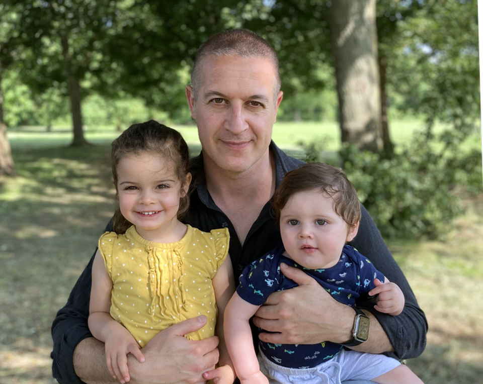 Paul and his kids/muses.