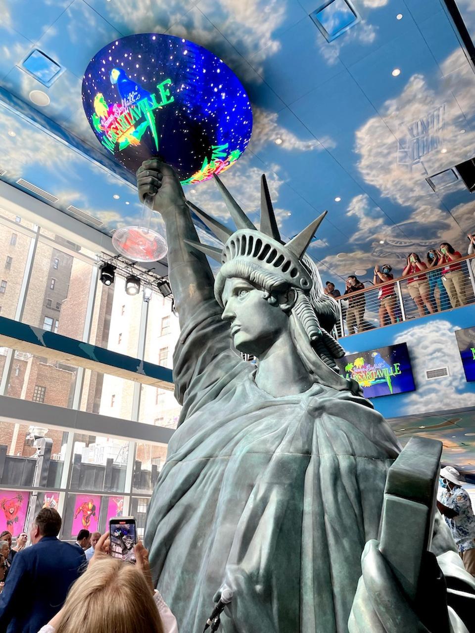 Inside Margaritaville Times Square. June 10, 2021