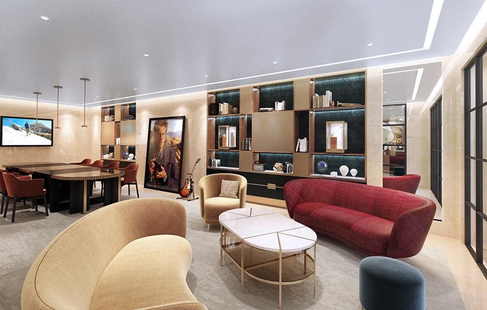 Vacheron Constantin's new flagship at 57th Street and Madison in New York City includes a lounge.