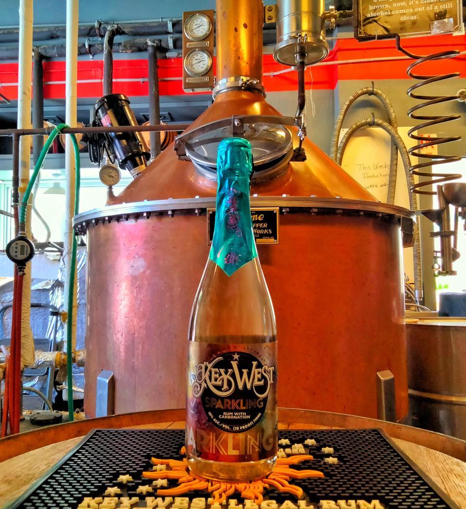 Key West Legal Rum's Sparkling Rum. 11% alcohol (22 proof).
