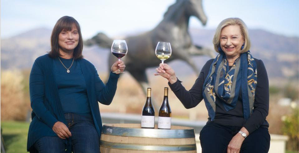 Barbara Banke and Peggy Furth: Jackson Family Wines, Chalk Hill, WindRacer, Chardonnay