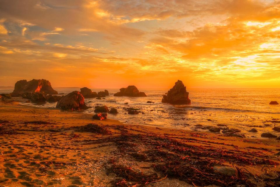Sunset on the Sonoma Coast in California