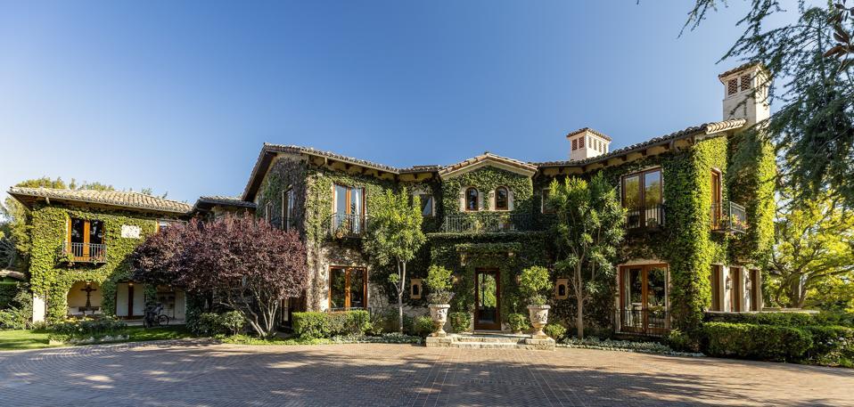 sugary ray leonard house designed by richard landry on amalfi drive pacific palisades