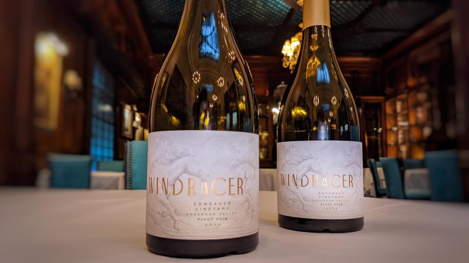 2018 WindRacer, Edmeades Vineyard Pinot Noir, Anderson Valley and 2018 WindRacer, Sealift Vineyard Pinot Noir, Sonoma Coast