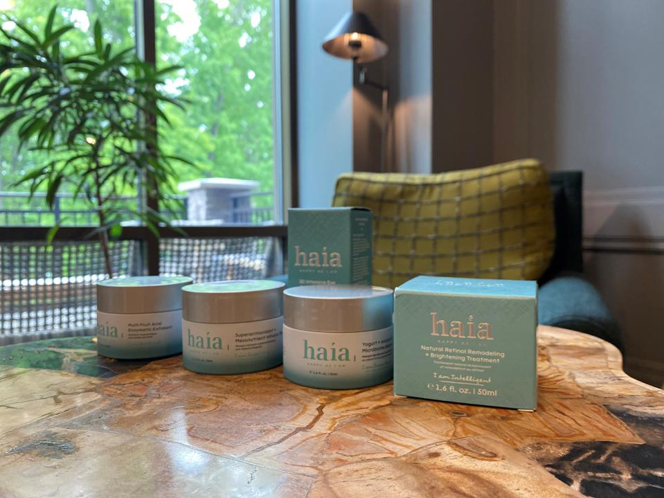Skincare products by Mike Bruggeman at the Lodge at Woodloch.