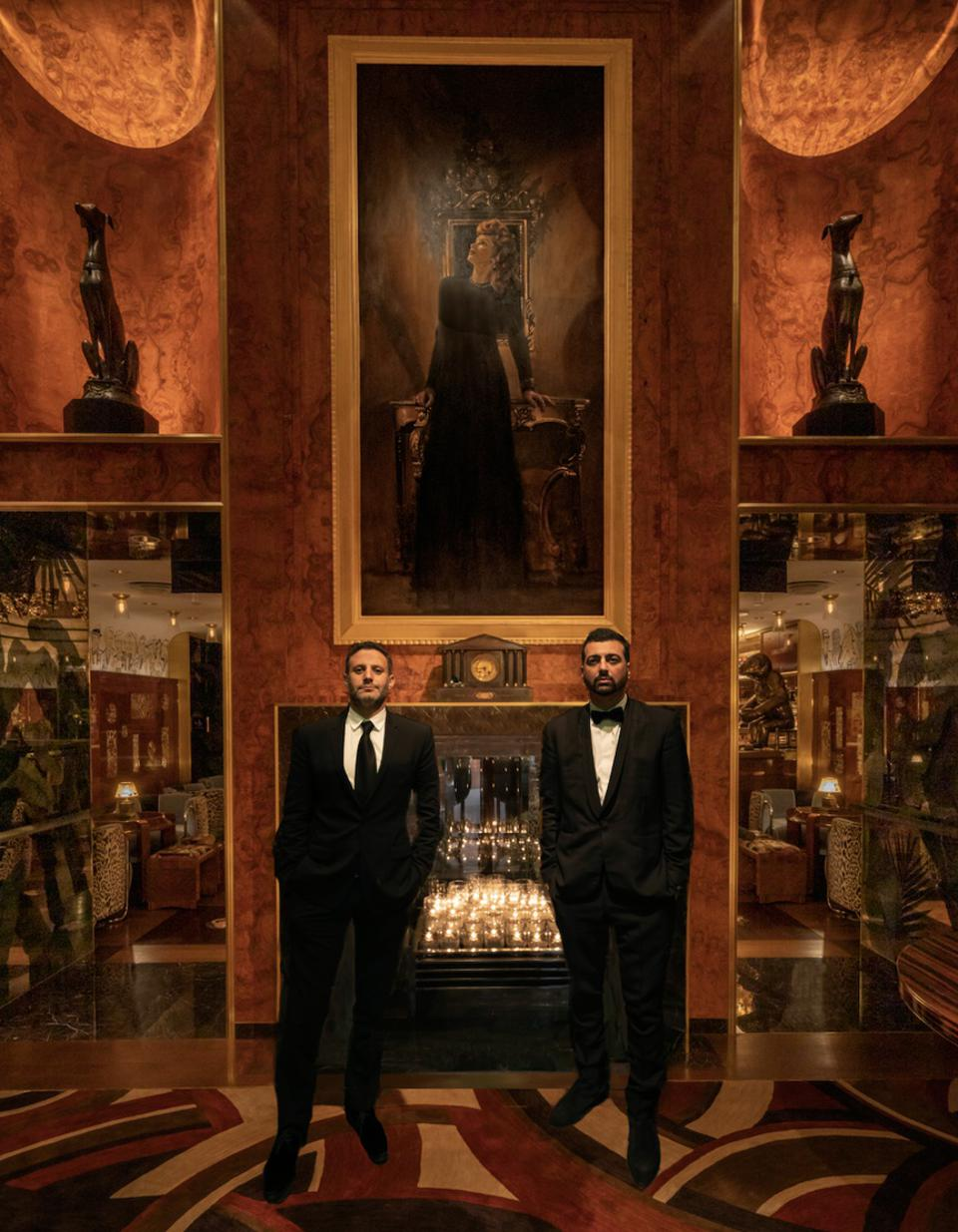 John Terzian and Brian Toll, founders of The h.wood Group at the foyer of Delilah Las Vegas.
