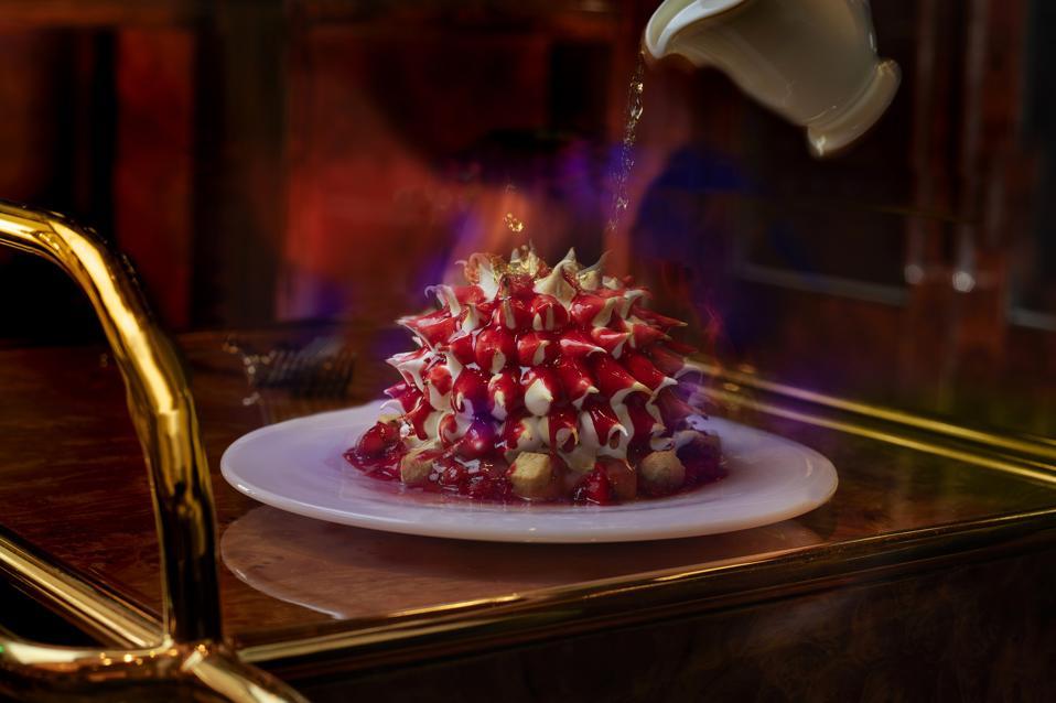 Strawberry Shortcake Baked Alaska.