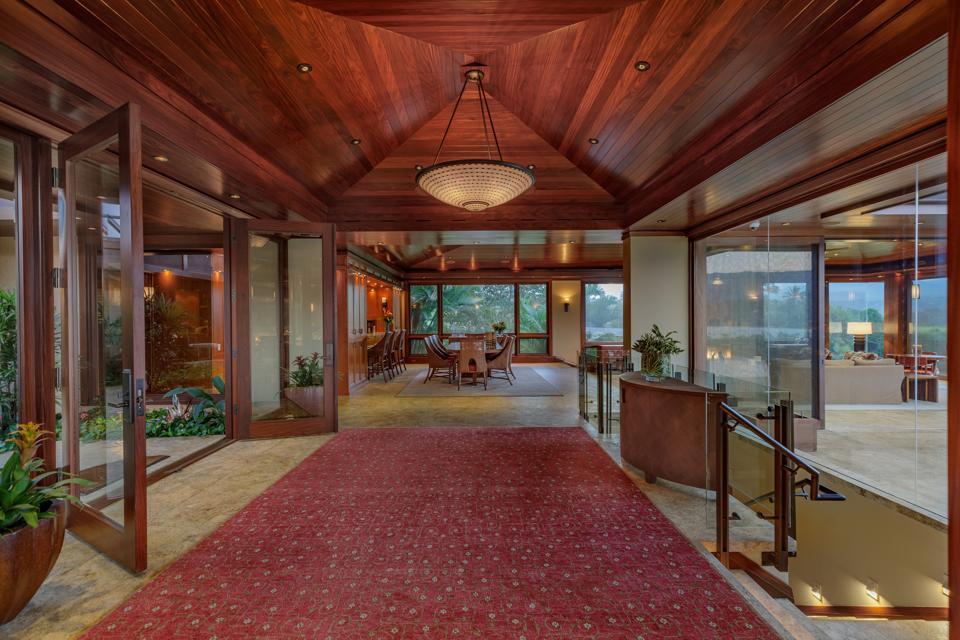 5121 Hanalei Plantation Road, Kauai interior corridor hawaii luxury
