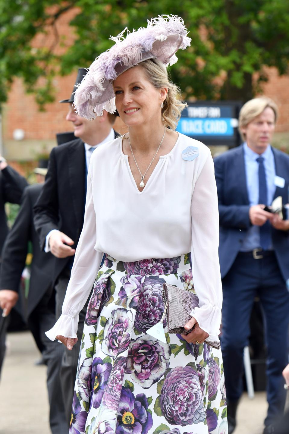 Sophie, Countess of Wessex at 2021 Royal Ascot - Fashion, Day Two