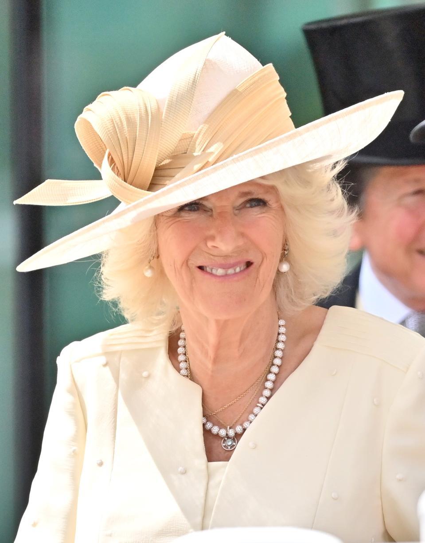 Camilla, Duchess of Cornwall at 2021 Royal Ascot - Day Two