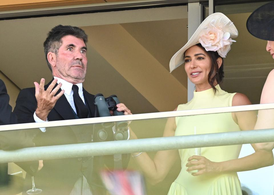 Simon Cowell and Lauren Silverman at 2021 Royal Ascot - Day One