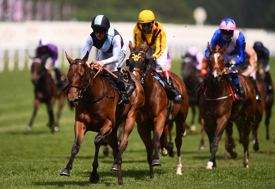 Horses racing at Royal Ascot 2021 - Day Two