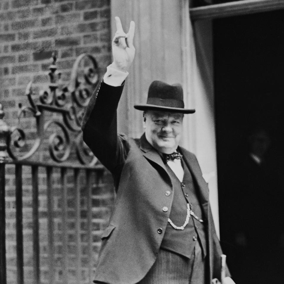 Churchill's V Sign