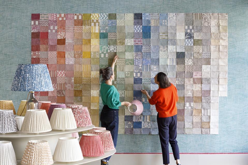 The various colourways at Fermoie