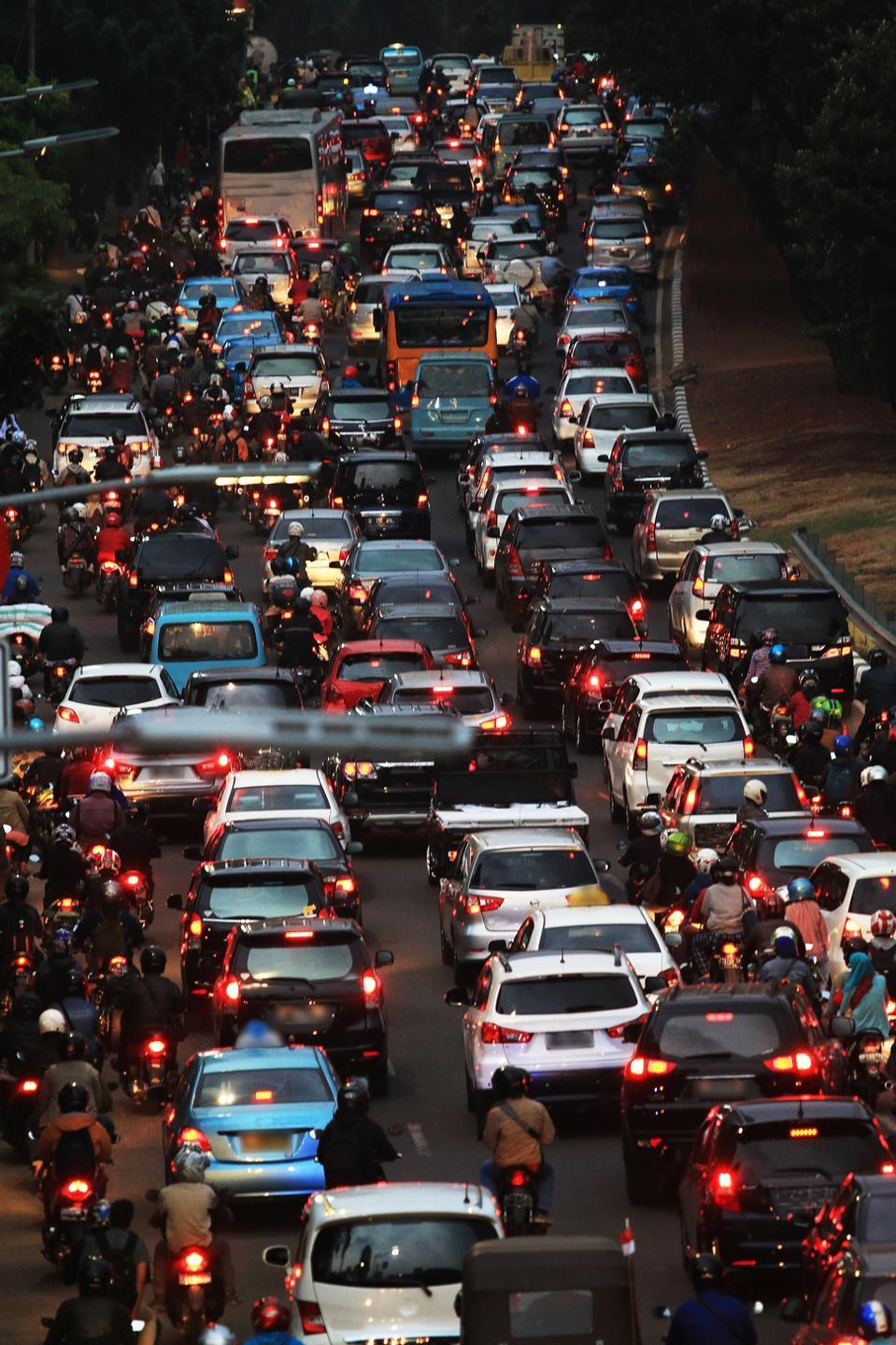 Kemacetan darurat lalu lintas di Jakarta