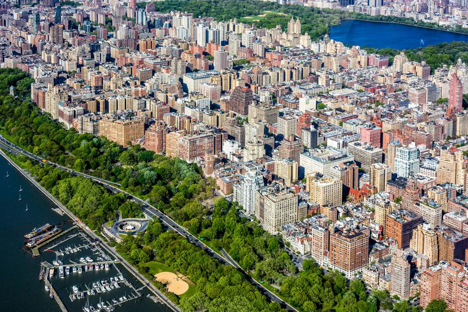 Aerial view of the Upper West Side