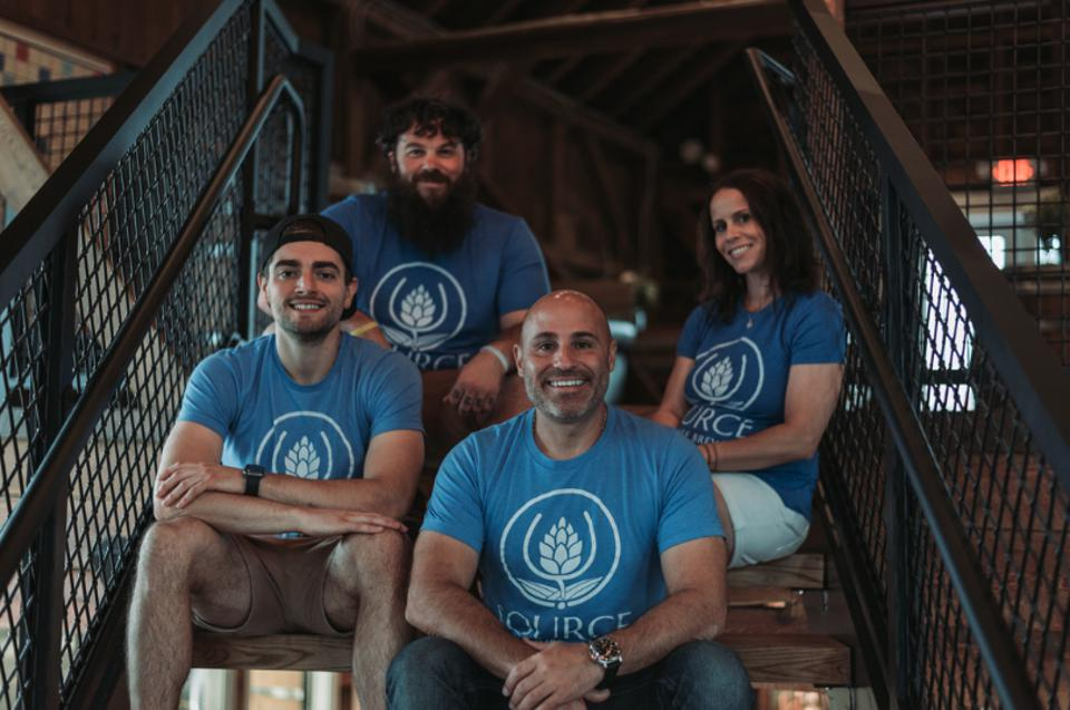 The Source team from L-R: Greg Taylor, co-founder and director of brewery operations, Jeremy Watts, head brewer, Philip Petracca, co-founder and general manager, and Keri Petracca, co-founder and director of operations.