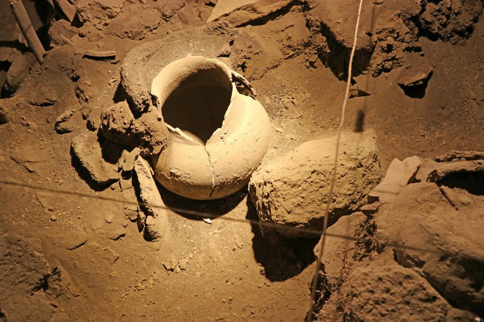 Ancient Storage Jar Found in Areni-1 Cave, World's Earliest Known Winery in the Village of Areni, in Vayots Dzor Province, Armenia