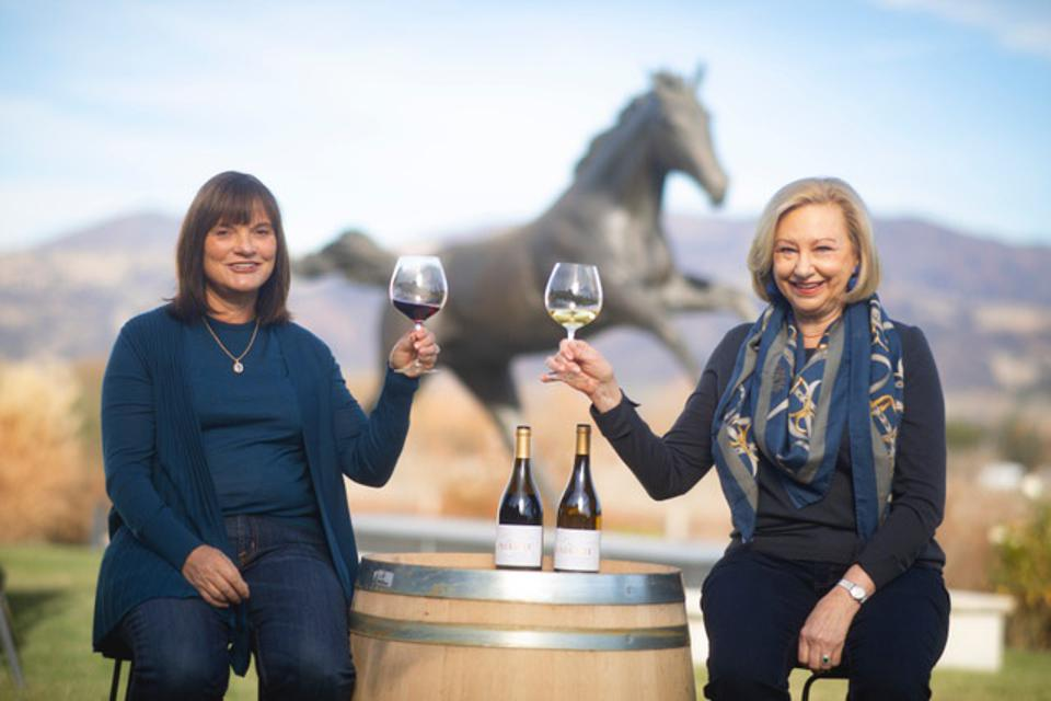 Barbara Banke and Peggy Furth, founders of WindRacer Wines.