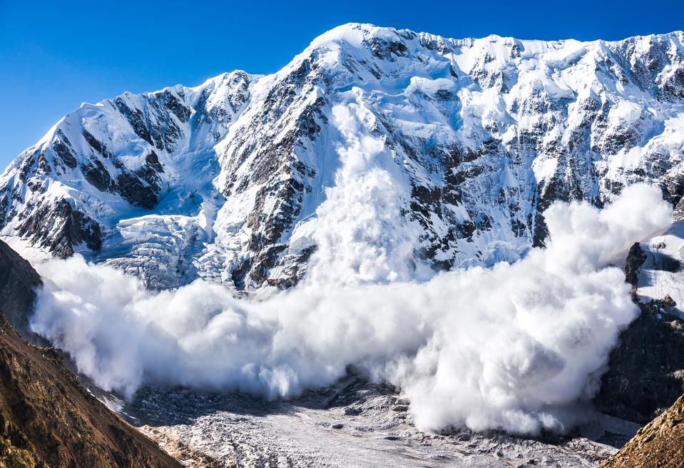 Avalanche in the Caucasus. force majeure