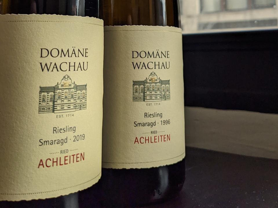 2019 and 1996 Domäne Wachau, Riesling Smaragd 'Ried Achleiten'