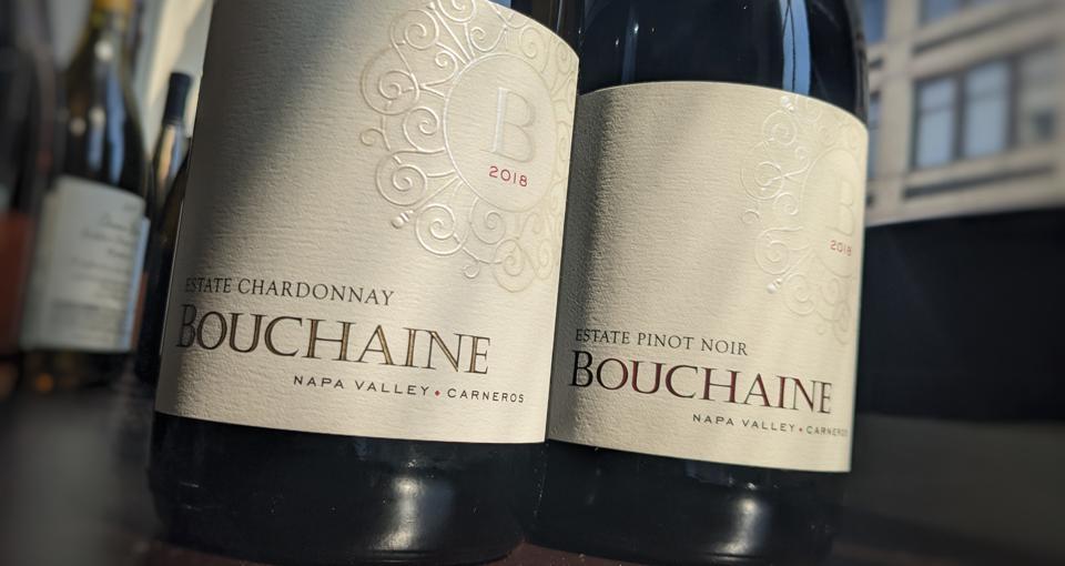 2018 Bouchaine Estate Chardonnay and 2018 Bouchaine Estate Pinot Noir