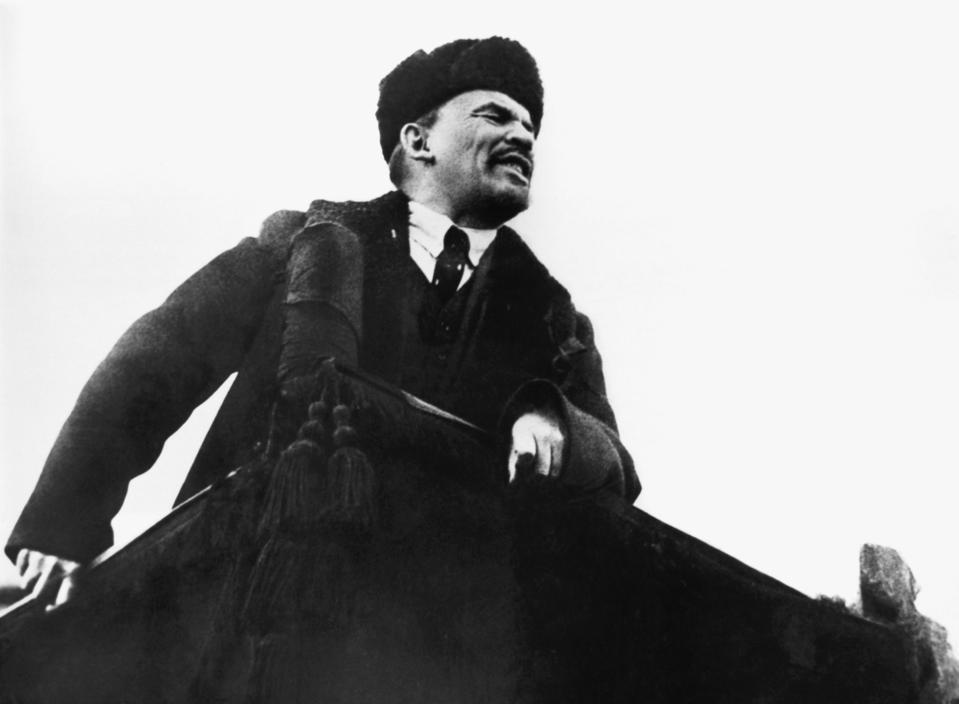 Lenin Speaking in Red Square, 1918