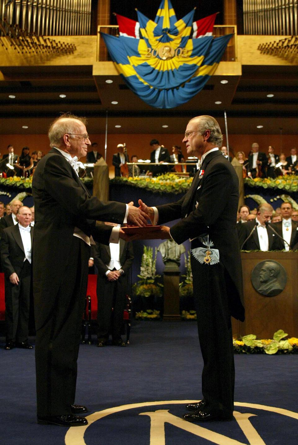 Daniel Kahneman receives the Nobel Prize in Economics