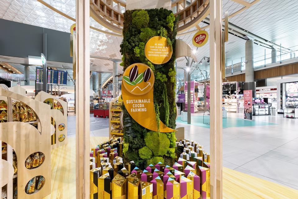 Mondelez activation in Heinemann store in Oslo Airport.