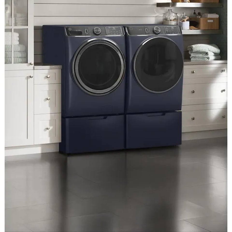 GE UltraFresh Vent System Front-Load Washer & Electric Dryer Set with OdorBlock
