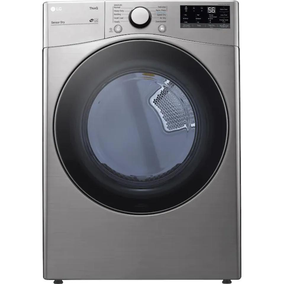 Best Front Load Dryer: LG ThinQ 7.4-cu ft Electric Dryer