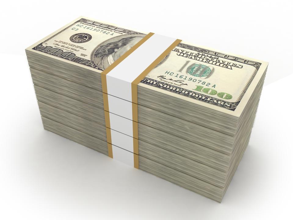 Money stack us dollar finance concept