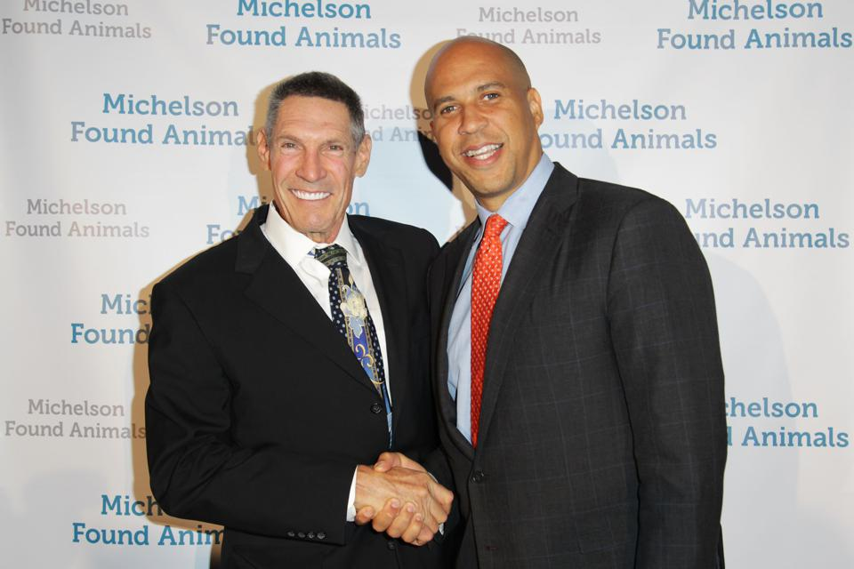 Gary Michelson and Cory Booker