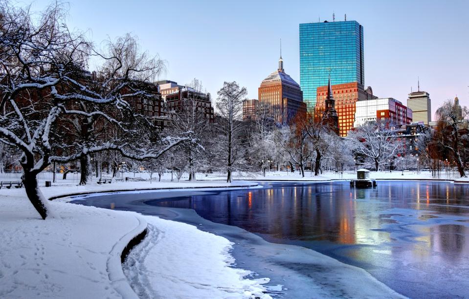 Winter in the Boston Public Garden - Boston, Massachusetts