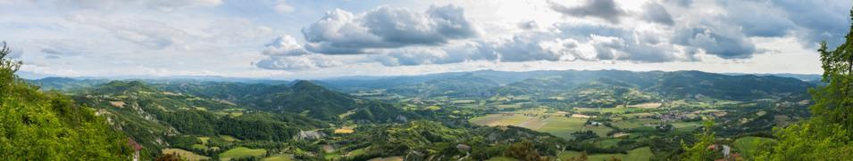 Panorama from Montechiaro d'Acqui