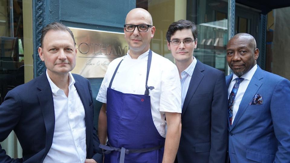 The new team: from left to right: Bret Csencsitz (owner), Ron Paprocki (Executive Chef), Jason Davies (AGM) and Daniel Sanon (GM)