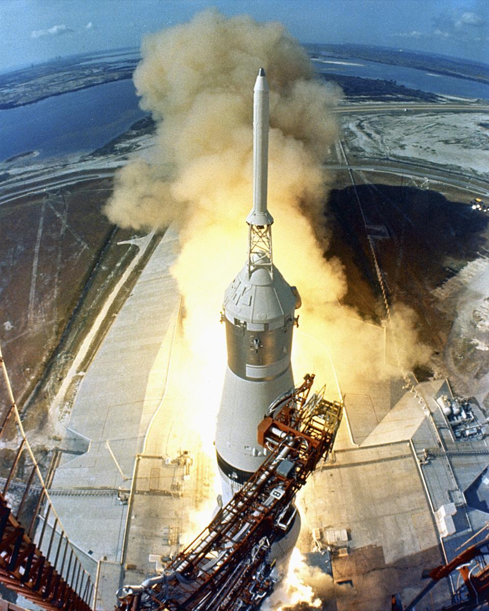 Liftoff of the Apollo 11 Saturn V Rocket