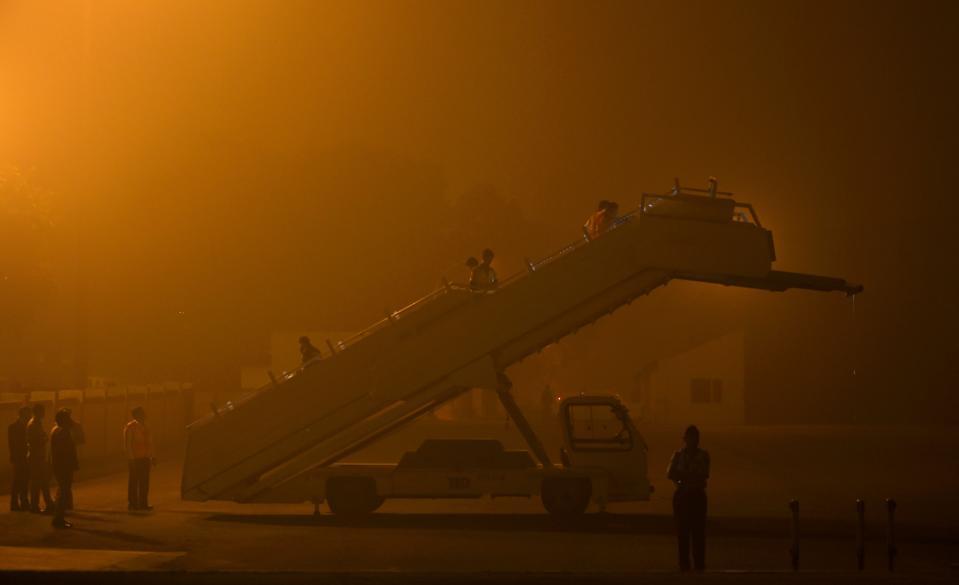 INDIA-BRITAIN-DIPLOMACY-POLLUTION