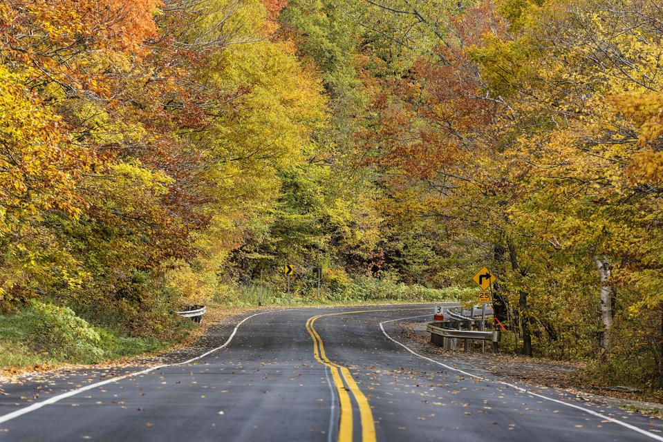 Autumn scenic byway...