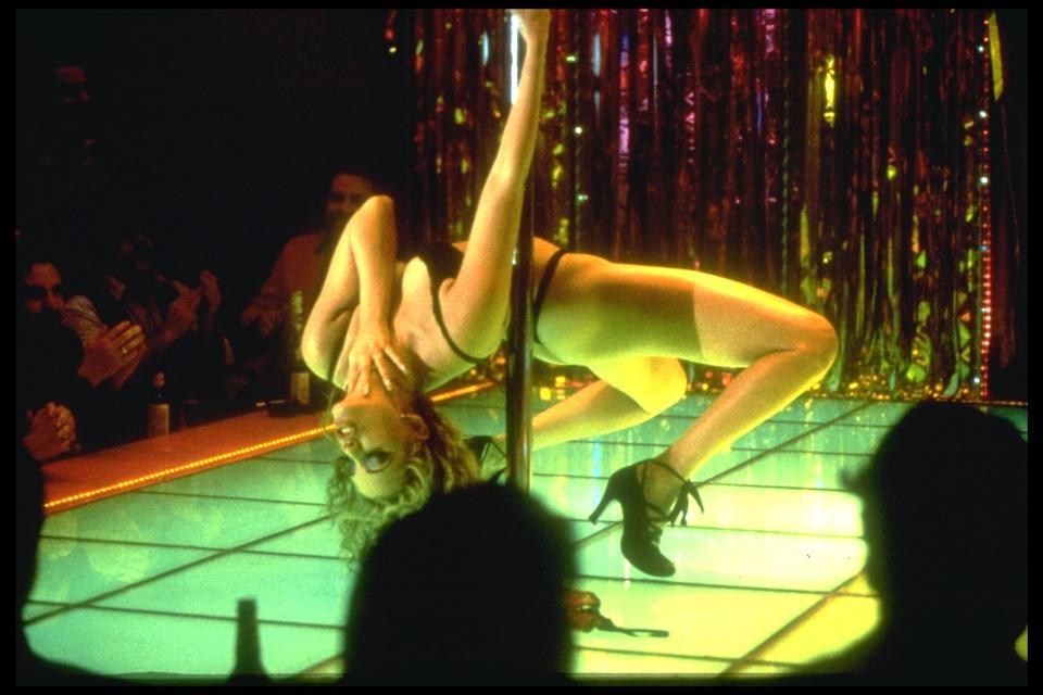 On the set of Showgirls