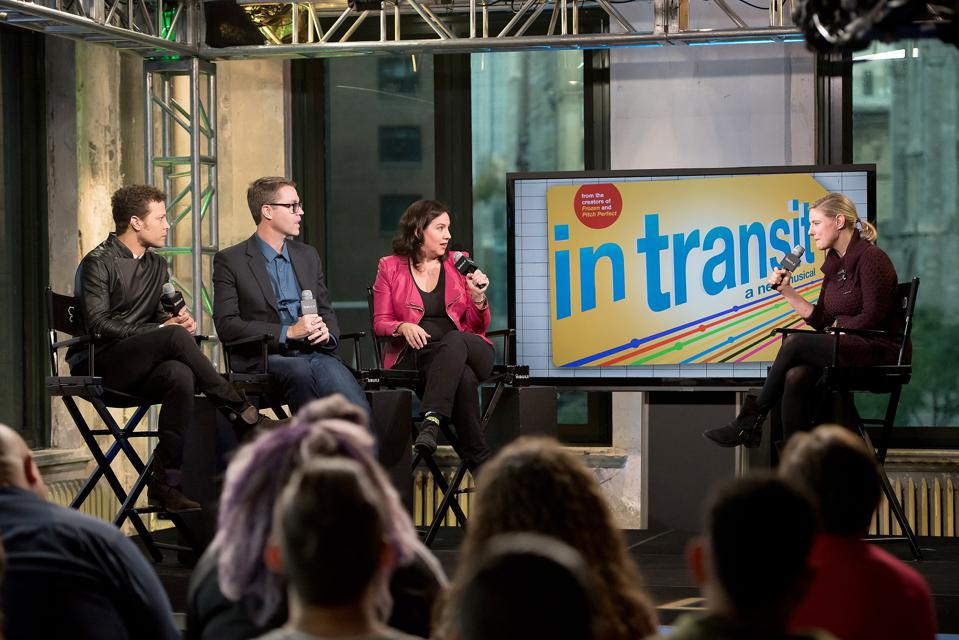 The Build Series Presents Justin Guarini, Kristen Anderson-Lopez And Deke Sharon From ″In Transit″ On Broadway
