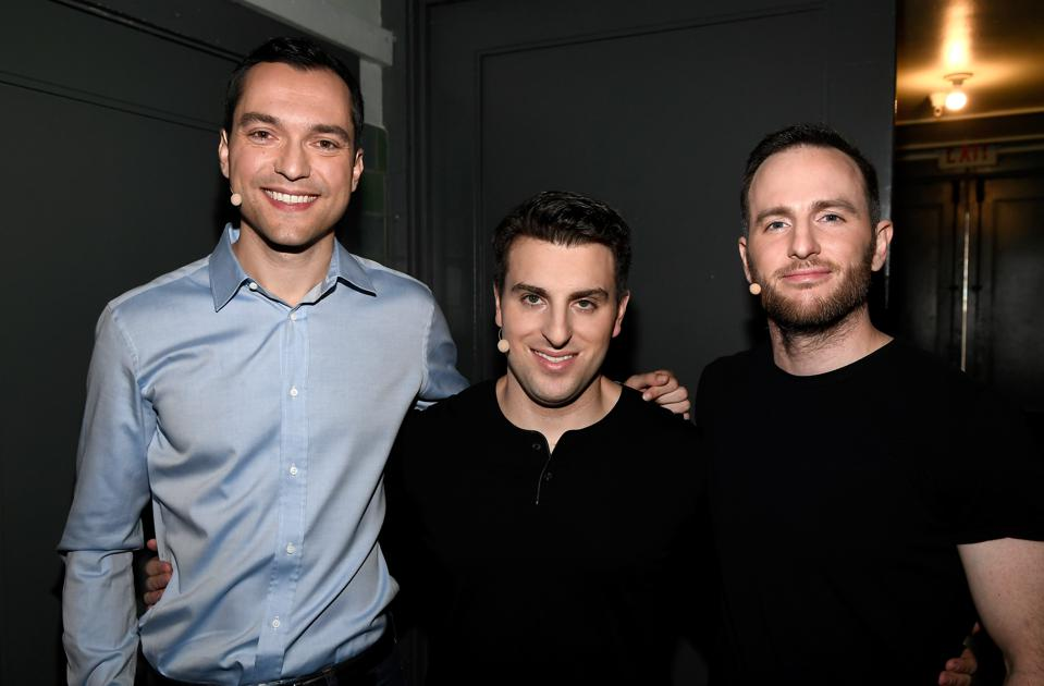 Airbnb cofounders Nathan Blecharczyk, Brian Chesky and Joe Gebbia.